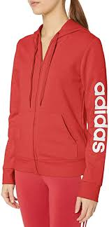 adidas Womens' <b>Essentials</b> Linear <b>Full Zip Hoodie</b> Jacket: Amazon ...