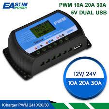 EASUN POWER Solar Charge Controller <b>30A 20A 10A</b> Voltage ...