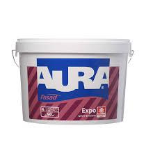 <b>Краска</b> водно-дисперсионная фасадная <b>Aura</b> Fasad <b>Expo</b> белая ...