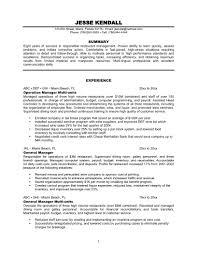 resume restaurant manager info resume restaurant manager example 4