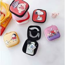 Snoopy Cartoon Mini <b>Storage</b> Bag for <b>Earphone USB Cable</b> ...