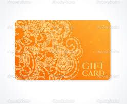 bright orange gift card business card discount card template bright orange gift card business card discount card template floral scroll