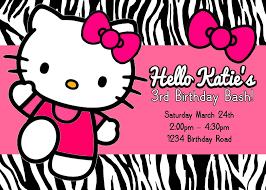 hello kitty invitations templates com hello kitty birthday invitations templates