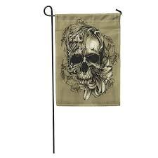 JSDART <b>Halloween</b> Floral <b>Skull Skeleton</b> Rose <b>Gothic Pattern</b> ...