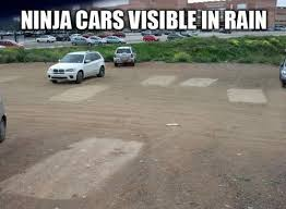 Ninja cars visible in rain - Memes Comix Funny Pix via Relatably.com