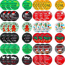 48 Pieces Christmas Sayings Button Pins Funny ... - Amazon.com