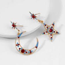 Buy Vorra Fashion original new star moon earrings ... - Flipkart.com
