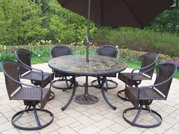 furniture art stone outdoor top table with black iron chair using round base as well black wrought iron outdoor furniture