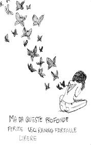icone femminili ma da queste profonde ferite usc no farfalle libere
