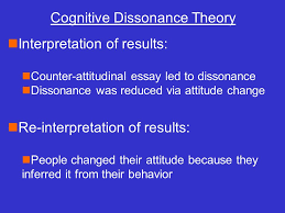 essay on cognitive dissonance theory   essay topicsninterpretation of results ncounter atudinal essay led to dissonance ndissonance was reduced via atude  attribution theory