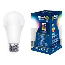 Светодиодная <b>лампа LED</b>-<b>A60</b>-<b>10W</b>/<b>RGB</b>/<b>E27</b>/<b>REG PLS21WH</b> с ...