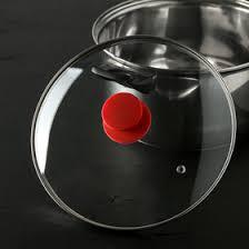 <b>Крышка</b> стеклянная <b>d</b>=<b>24</b> см Silk, ручка <b>силиконовая</b> МИКС ...