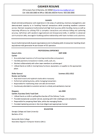 resume for cashier  seangarrette coresume