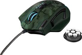 <b>Trust GXT 155C</b> USB gaming mouse Laser Backlit, Weight trimming ...