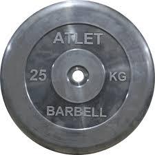<b>Диск обрезиненный MB Barbell</b> Atlet d 26мм черный 25кг: купить ...