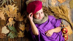 <b>Fashion</b> kid girl wear knitted hat <b>beret</b> and scarf. Autumn <b>fashion</b> ...