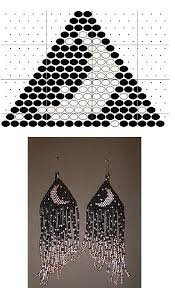 Earrings brick weave (many circuits) | biser.info - all about <b>beads</b> ...