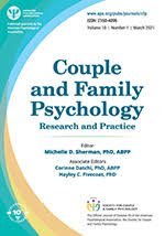 <b>Couple</b> and Family Psychology: Research and Practice