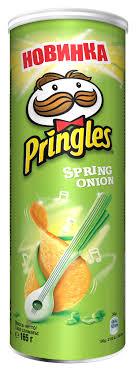 Pringles <b>Картофельные чипсы со вкусом</b> зеленого лука, 165 г