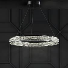 "Shop Benton 24.7"" Round Integrated LED <b>Crystal</b>/<b>Metal Chandelier</b> ..."