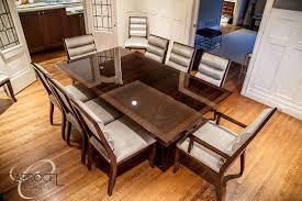 custom art deco mahogany dining table with colina art deco dining chairs modern dining art deco dining room