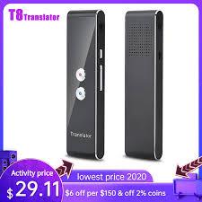 T8 <b>Portable Wireless Smart</b> Translator 40 Languages Two Way Real ...