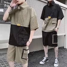 <b>AmberHeard</b> 2019 New <b>Summer Men's</b> Sporting Suit Short Sleeve T ...
