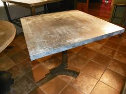 images zinc table top: filed under past products zinc furniture a tagged with industrial dining table industrial style table patina rustic furniture zinc table