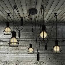 novelty spider pulley pendant lamp kitchen bar adjustable retro industrial lighting candelabro dining room vintage pendant ceiling industrial lighting fixtures industrial lighting