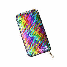 <b>KANDRA</b> Luxury Brand Rainbow Glitter Wallets for Women Clutch ...