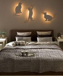 diy bedroom lighting decor idea indirect lighting cat silhouettes bedroom lighting ideas ideas