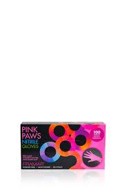 <b>Перчатки розовые нитриловые</b> Pink Paws, размер S 100 шт/уп ...