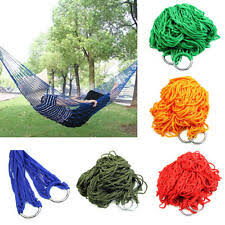 Outdoor Travel Camp <b>Rope Hammock</b> Garden <b>Portable Nylon</b> Hang ...