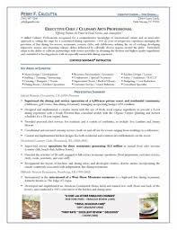 executive chef culinary arts professional resource gallery photos of resume templates