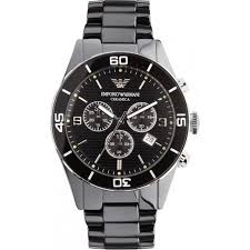 armani watches for from tic watches uk mens womens ar1421 mens black ceramica watch