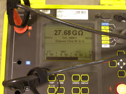 qs energy inc qsep stock message board investorshub display of an ohmmeter a scientific instrument used to measure electrical resistance showing a reading of 27 68 giga ohms during testing of retrofitted