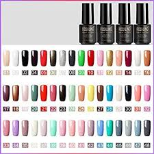 48pcs Solid Color 7ml Gel Nail Polish Kit Long ... - Amazon.com