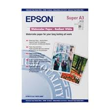 <b>Epson WaterColor Paper Radiant</b> White 190gsm