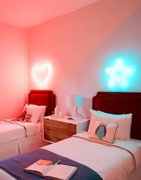 bedroom purple neon mood