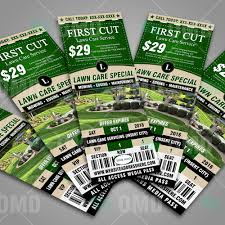 flyer ticket bundle lawn care branding the lawn market flyer ticket bundle lawn care branding