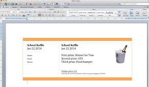 create numbered raffle tickets in word for mac  step 2 create a page of tickets