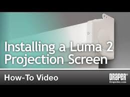 How To: Installing a <b>Luma 2</b> Projection Screen by <b>Draper</b>, Inc ...