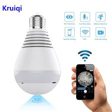 <b>Kruiqi</b> Wifi <b>IP Camera</b> 1080P Bulb led Light 360 degree Wi fi Fish ...