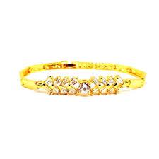 Keyline Gold Plated Crystal Clear American <b>Diamond</b> Chain Loops ...