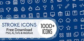 1000 free outline stroke icons for designers basic icons flat icons 1000