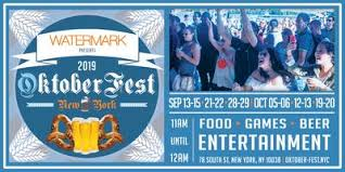 OktoberFest NYC 2019 at Watermark Tickets, Multiple Dates ...