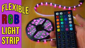 <b>Flexible RGB LED Light Strip</b> - YouTube