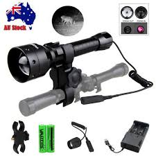 <b>Infrared IR</b> 850nm LED Torch Night Vision <b>Zoomable</b> Flashlight Rifle ...