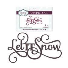 Let it Snow words <b>metal</b> die <b>cut</b> - Christmas <b>Cutting</b> Dies <b>Creative</b> ...