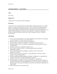 resume for cook  line cook sample resume  line cook job    resume for cook